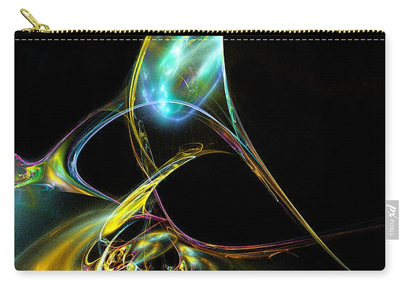 Fractal Carry-all Pouch featuring the digital art Lace Your Shoes by Klara Acel