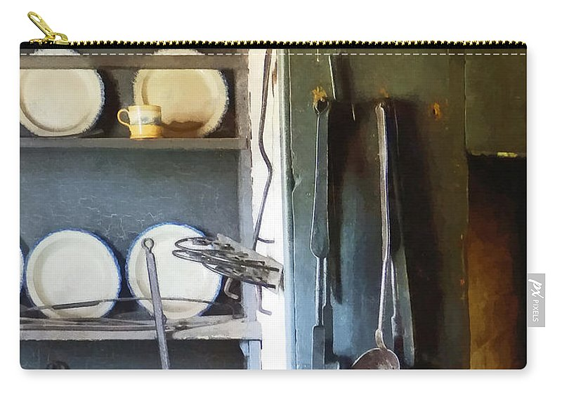 Ladle Carry-all Pouch featuring the photograph Ladles And Spatula In Kitchen by Susan Savad