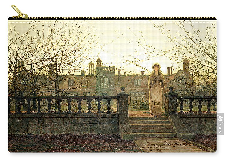 Cat Carry-all Pouch featuring the painting Lady Bountiful by John Atkinson Grimshaw