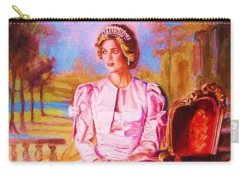 Princess Diana Carry-all Pouch featuring the painting Lady Diana Our Princess by Carole Spandau