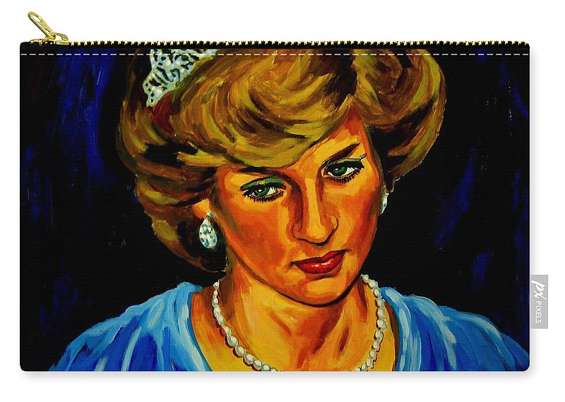 Lady Diana Portrait Carry-all Pouch featuring the photograph Lady Diana Portrait by John Malone