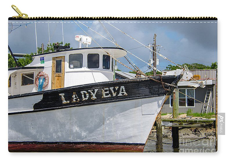 Lady Eva Carry-all Pouch featuring the photograph Lady Eva Shrimp Boat by Dale Powell