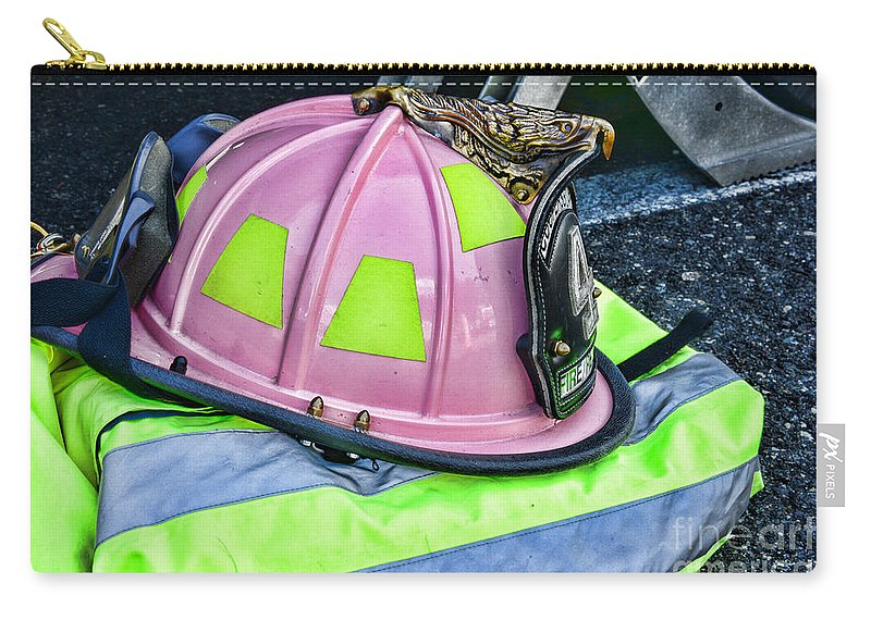 Paul Ward Carry-all Pouch featuring the photograph Lady Firefighter by Paul Ward