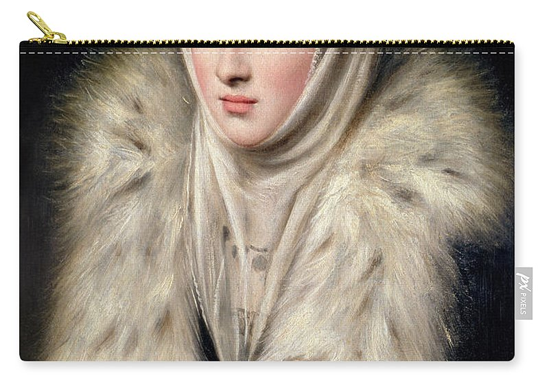 Female Carry-all Pouch featuring the painting Lady In A Fur Wrap by Domenico El Greco