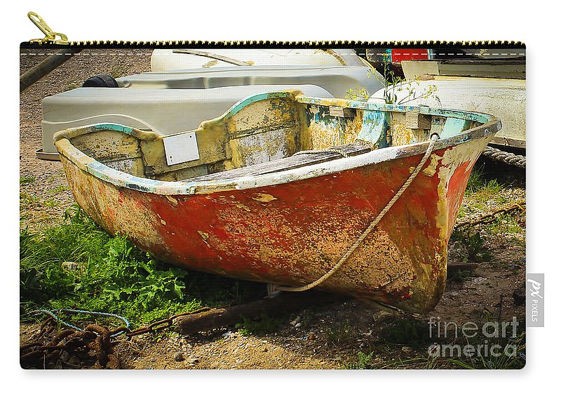 Boat Carry-all Pouch featuring the photograph Lady In Red by Rene Triay Photography
