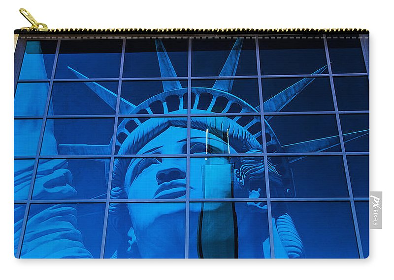 Nevada Carry-all Pouch featuring the photograph Lady Liberty by Angus Hooper Iii