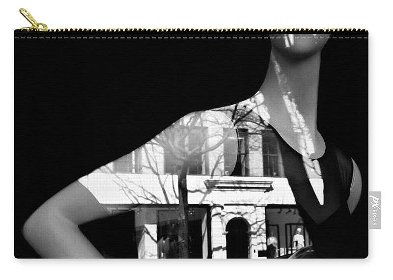 Black And White Carry-all Pouch featuring the photograph Lady Luck by Diana Angstadt