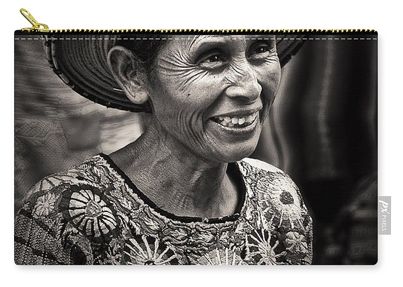 Lady Carry-all Pouch featuring the photograph Lady Of Santiago Atitlan by Tom Bell