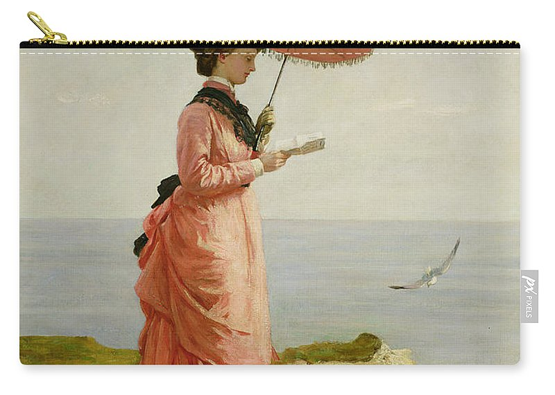 Bustle Carry-all Pouch featuring the painting Lady Tennyson On Afton Downs by Valentine Cameron Prinsep