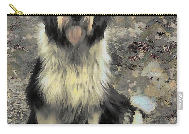 Dogs Carry-all Pouch featuring the painting Lady Zelda by Janice MacLellan