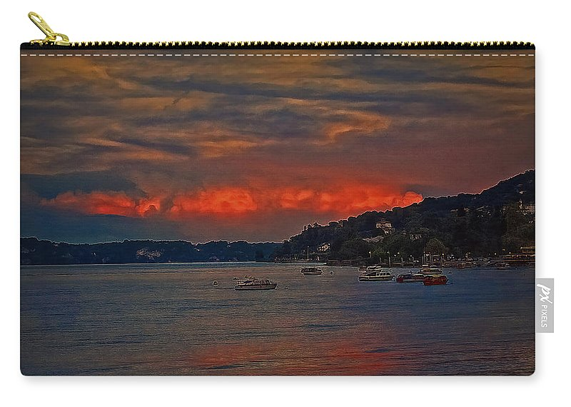 Landscape Carry-all Pouch featuring the photograph Lago Maggiore by Hanny Heim