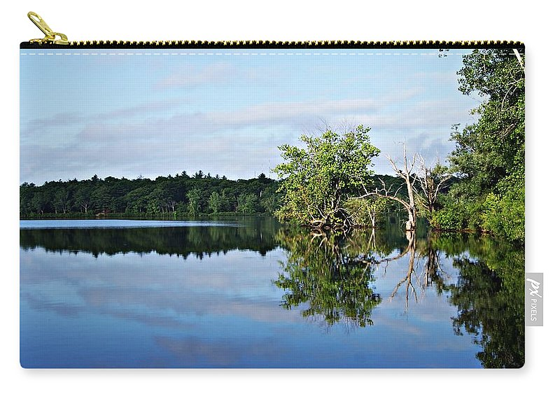 Lagoon Carry-all Pouch featuring the photograph Lagoon I by Joe Faherty