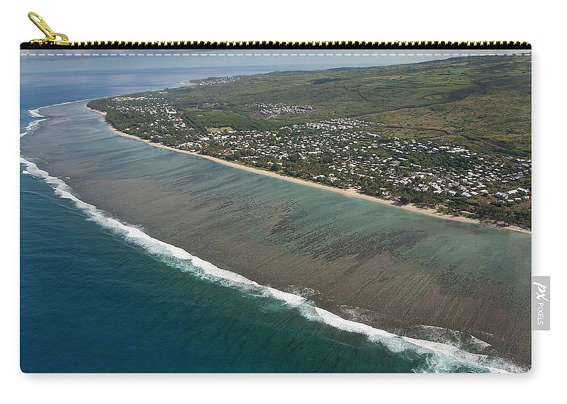 Reunion Island Carry-all Pouch featuring the photograph Lagoon - St Paul - Reunion Island by Travel Photographer Specialized In Asia * Sylvain Brajeul