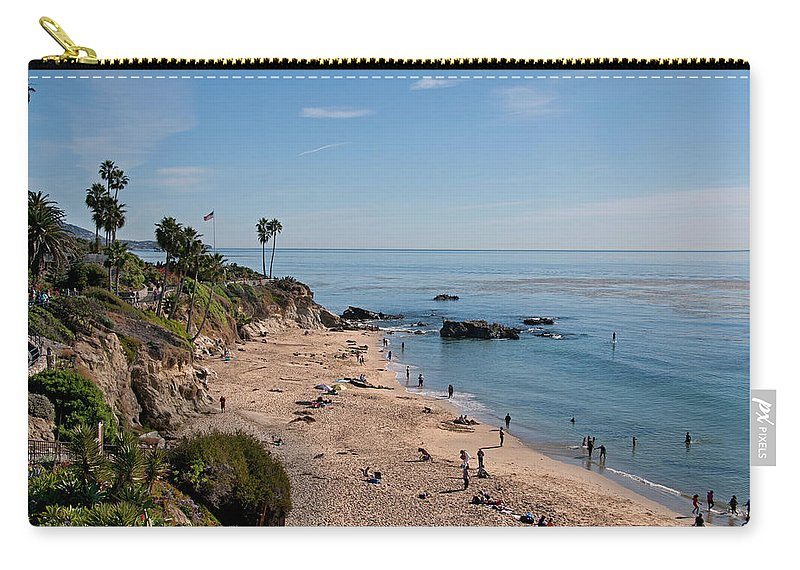 Tranquility Carry-all Pouch featuring the photograph Laguna Beach Cove by Mitch Diamond