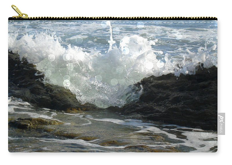 Laguna Beach Carry-all Pouch featuring the photograph Laguna Splash by Roleen Senic