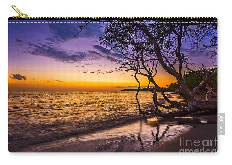 Beach Carry-all Pouch featuring the photograph Lahaina Twilight by Jamie Pham