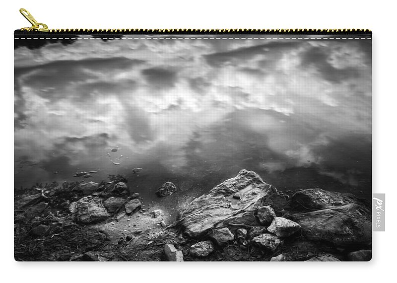 Wilderness Carry-all Pouch featuring the photograph Lake Auburn Twilight by Bob Orsillo