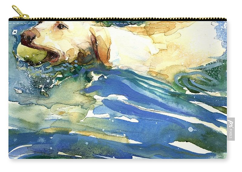 Lake Carry-all Pouch featuring the painting Lake Effect by Molly Poole