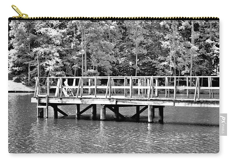 Lake Greenwood Carry-all Pouch featuring the photograph Lake Greenwood Pier by Tara Potts