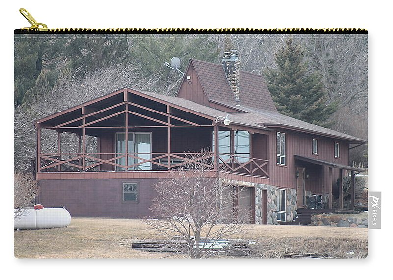 House Carry-all Pouch featuring the photograph Lake Home by Wayne Williams