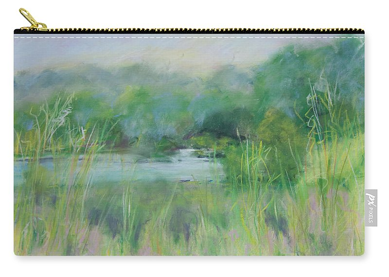 Landscapes Carry-all Pouch featuring the painting Lake Isaac Impressions by Lee Beuther