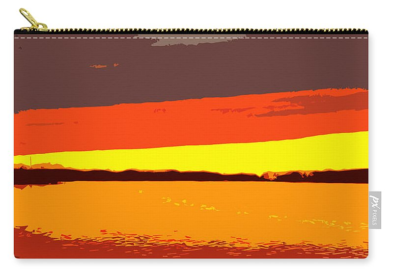 Sunset Carry-all Pouch featuring the photograph Lake Macatawa Sunset by Michelle Calkins