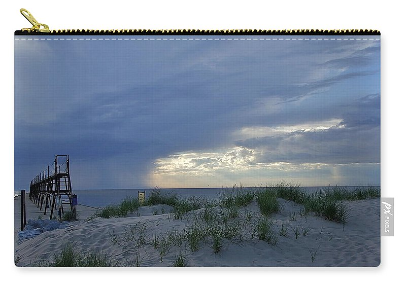Storm Carry-all Pouch featuring the photograph Lake Michigan Sky by Susan Wyman