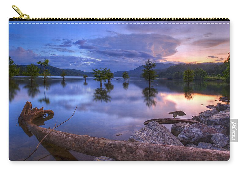 Appalachia Carry-all Pouch featuring the photograph Lake Ocoee by Debra and Dave Vanderlaan