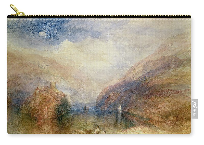 Moon Carry-all Pouch featuring the drawing Lake Of Brienz by Joseph Mallord William Turner