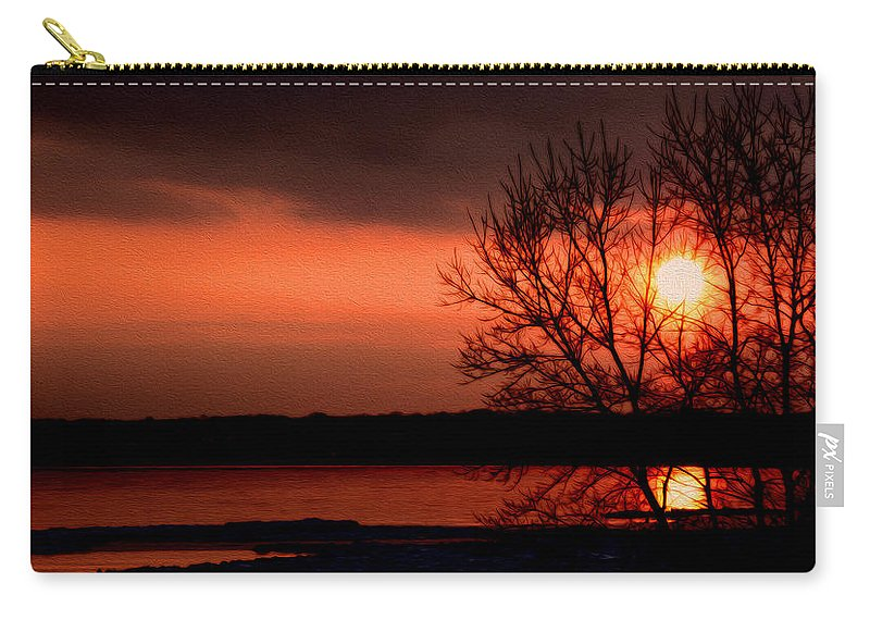Lake Ontario Carry-all Pouch featuring the photograph Lake Ontario by Tracy Winter
