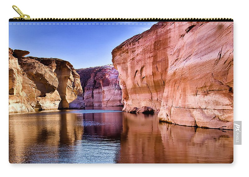 Lake Powell Utah Carry-all Pouch featuring the photograph Lake Powell Antelope Canyon by Jon Berghoff