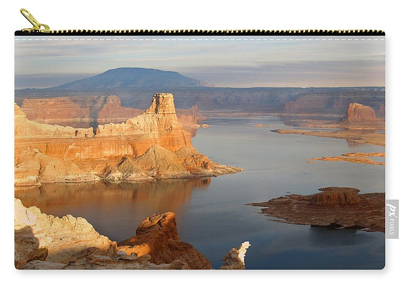 Landscape Carry-all Pouch featuring the photograph Lake Powell From Alstrum Pt 12 by Jeff Brunton