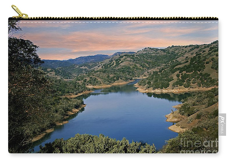 Lake Sonoma Carry-all Pouch featuring the photograph Lake Sonoma - California by Yefim Bam