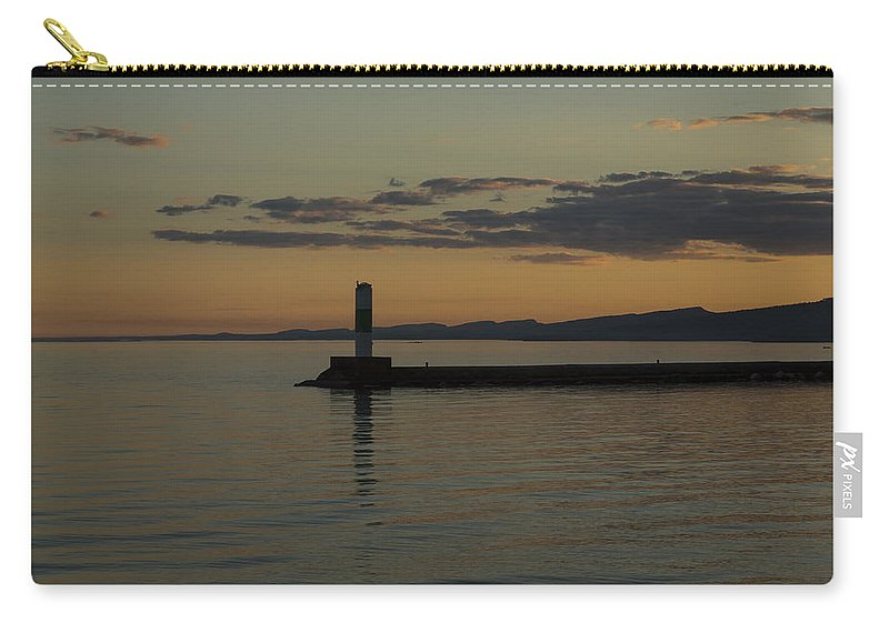 Lake Carry-all Pouch featuring the photograph Lake Superior Grand Marais 8 by John Brueske