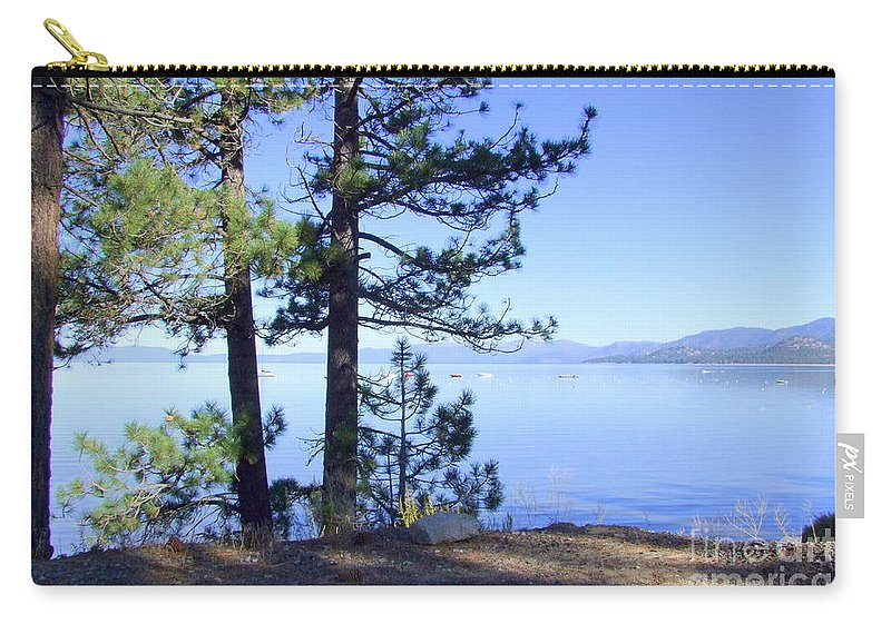 Lake Tahoe Carry-all Pouch featuring the photograph Lake Tahoe In The Morning by Mary Deal