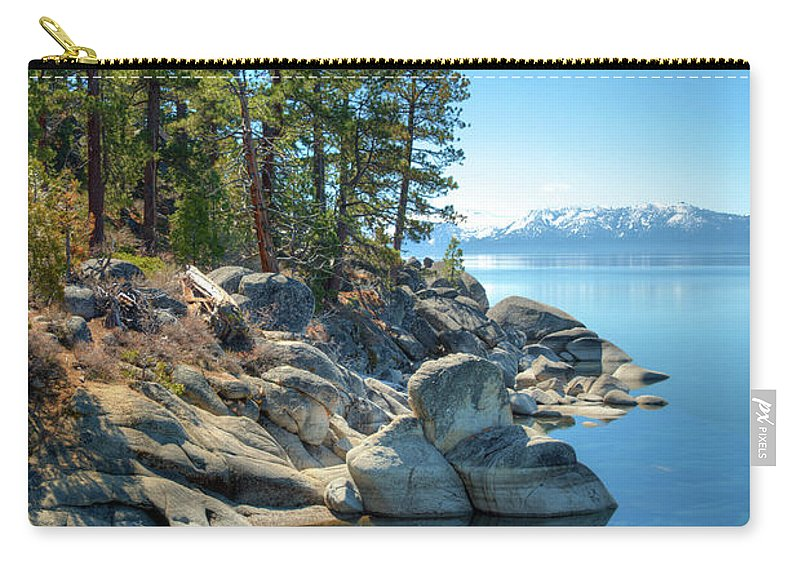 Scenics Carry-all Pouch featuring the photograph Lake Tahoe, The Rugged North Shore by Ed Freeman