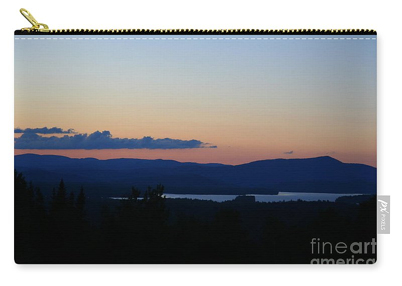 Framed Prints Carry-all Pouch featuring the photograph Lake Umbagog After Sunset  by Neal Eslinger