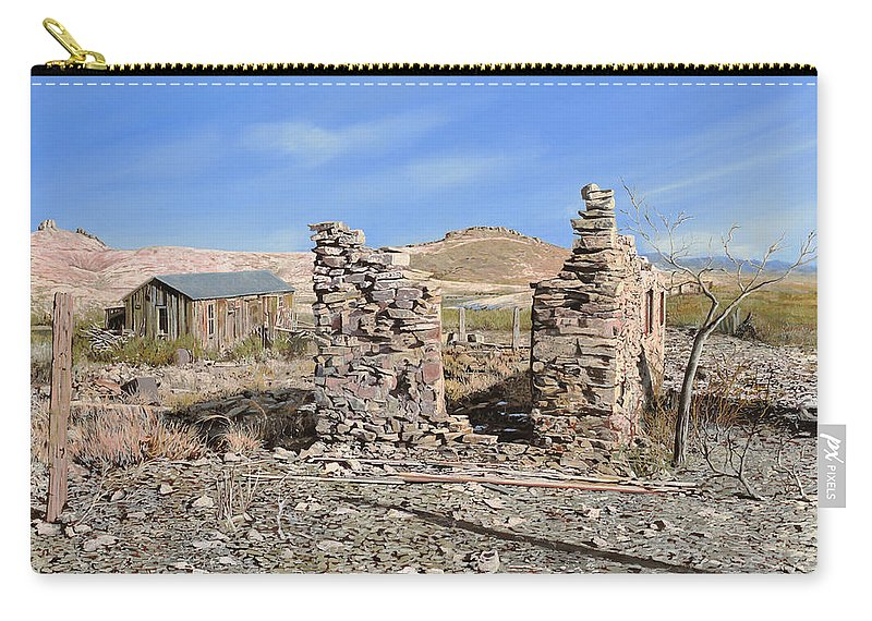 Lake Valley Carry-all Pouch featuring the painting Lake Valley-new Mexico by Guido Borelli