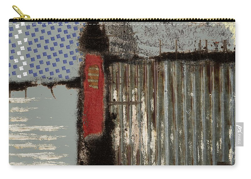 Collage Carry-all Pouch featuring the photograph Lake View by Carol Leigh