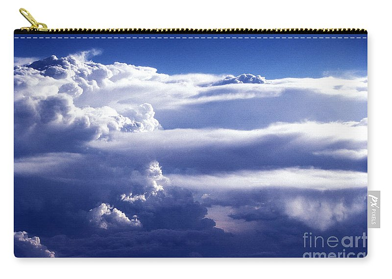 Horizontal Carry-all Pouch featuring the photograph Lake View Through The Clouds by Paul W Faust - Impressions of Light