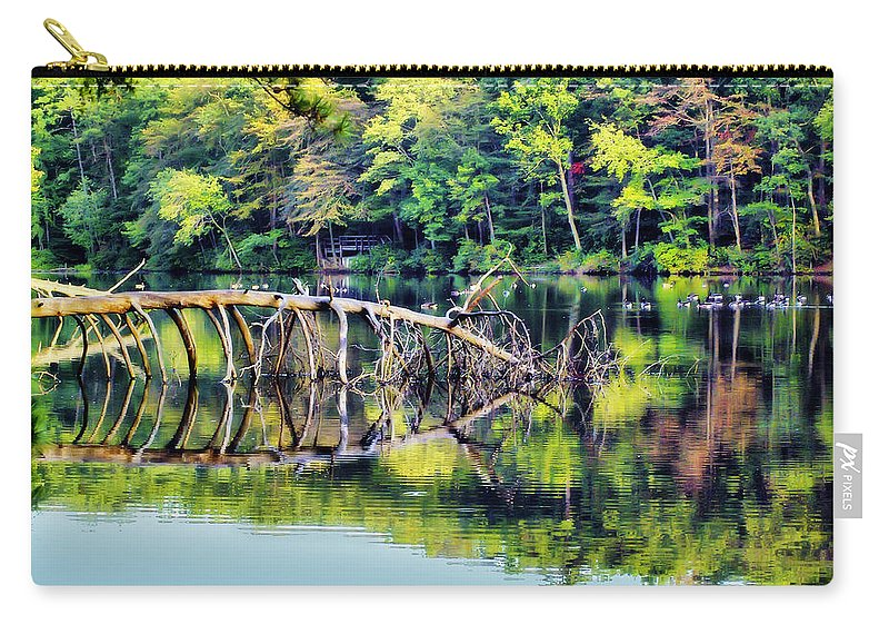2d Carry-all Pouch featuring the photograph Lake Waterford by Brian Wallace