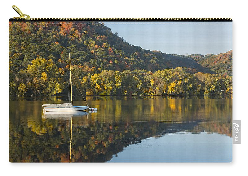 Lake Carry-all Pouch featuring the photograph Lake Winona Autumn 3 by John Brueske