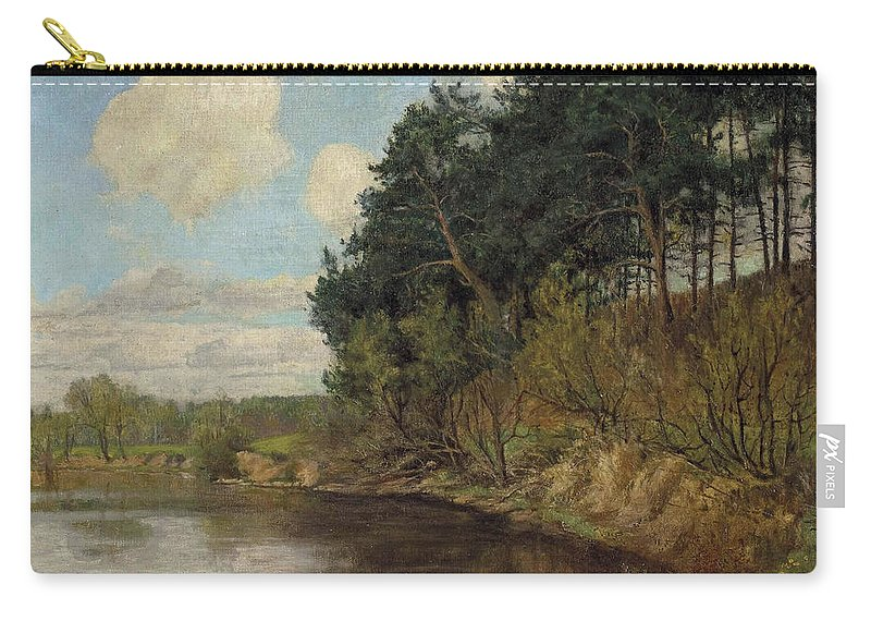 Emil Orlik.lakeland In Berlin Carry-all Pouch featuring the painting Lakeland In Berlin by Emil Orlik