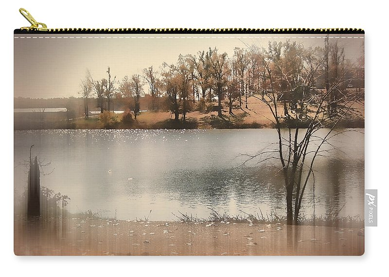 Kentucky Lake Carry-all Pouch featuring the photograph Lakes Edge by Bonnie Willis