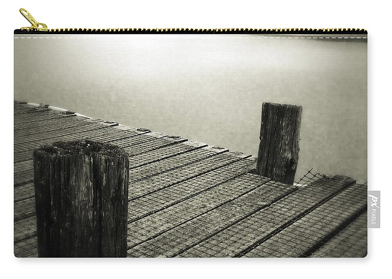 Calm Carry-all Pouch featuring the photograph Lakeside by Les Cunliffe