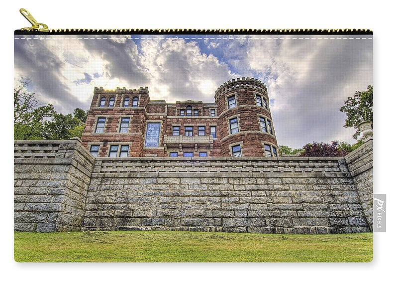Castle Carry-all Pouch featuring the photograph Lambert Castle by Anthony Sacco