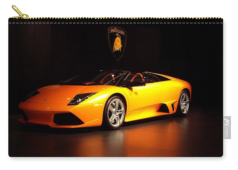 Car Carry-all Pouch featuring the photograph Lamborghini by Davandra Cribbie