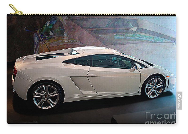 Lamborghini Carry-all Pouch featuring the photograph Lamborghini Gallardo Lp550-2 Side View by Stuart Row