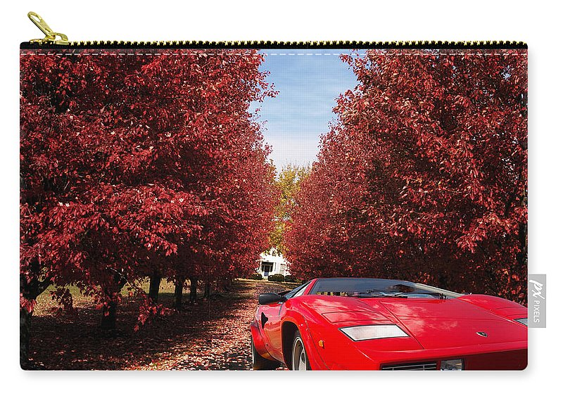 Lamborghini Carry-all Pouch featuring the photograph Lamborghini Maple Lane Big House by Randall Branham