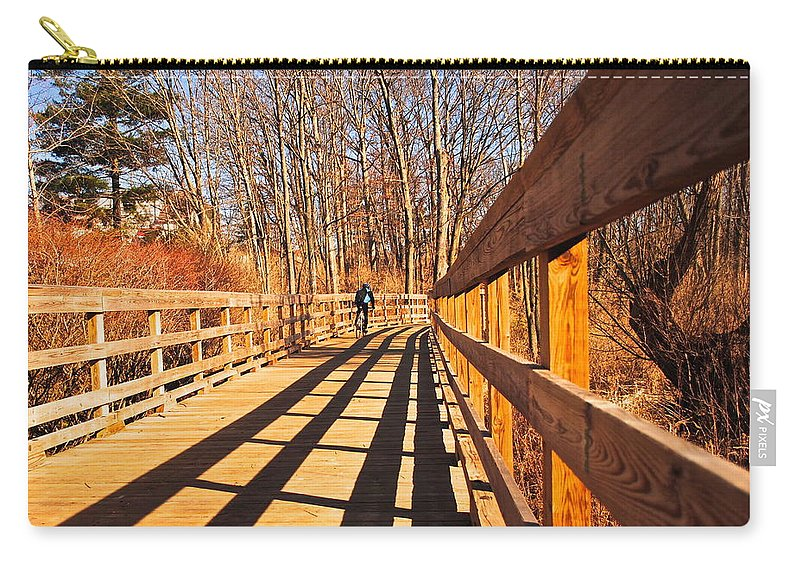 Boardwalk Carry-all Pouch featuring the photograph Lance Rides On by Frozen in Time Fine Art Photography